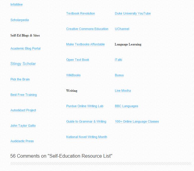 broken links in resource lists