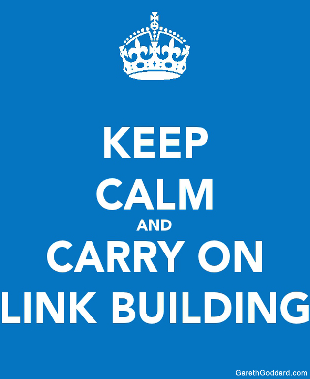 keep calm and carry on link building